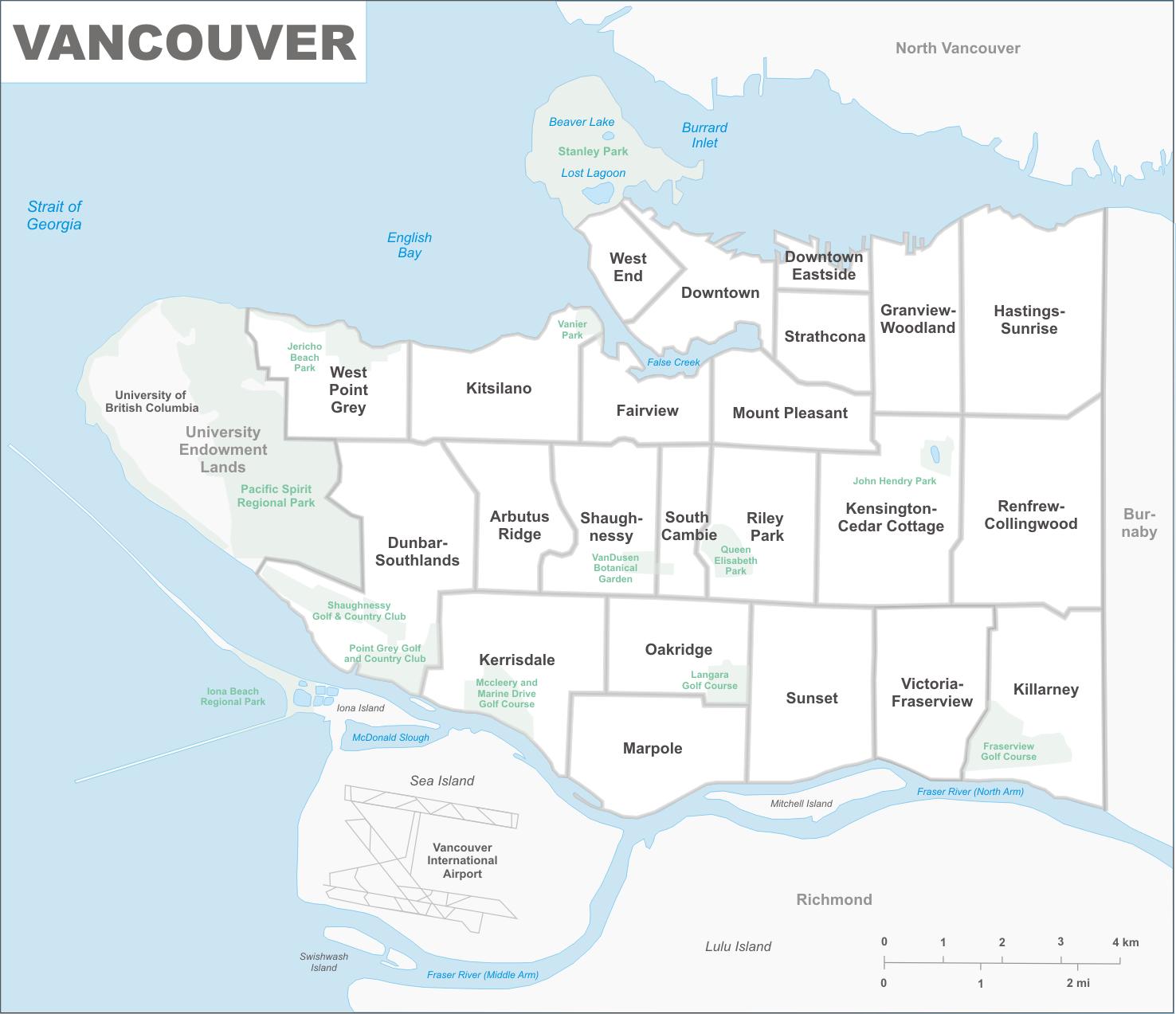 Vancouver Neighbourhood Map Vancouver neighbourhood map   Superhero Property Building  Vancouver Neighbourhood Map